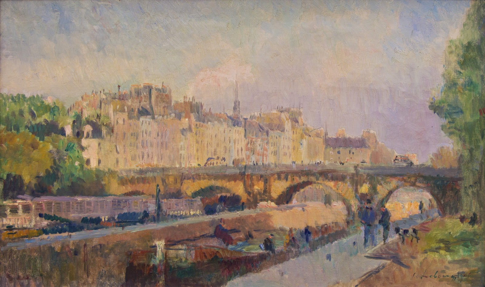 Картинки по запросу gicléedruk: le pont-neuf by albert lebourg, 61x41cm.