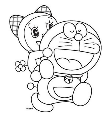 Mewarnai Gambar Hitam Putih Doraemon Sumber Google Images