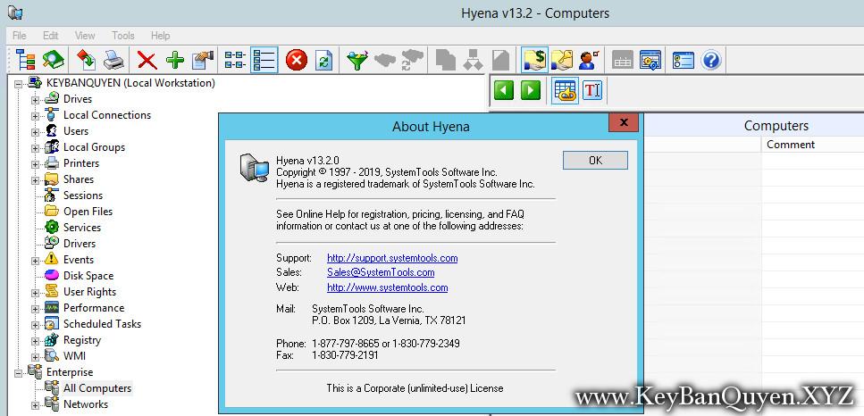 SystemTools Hyena 13.2.0 Full Key, Phần mềm quản lý chuyên sâu hệ thống máy tính.