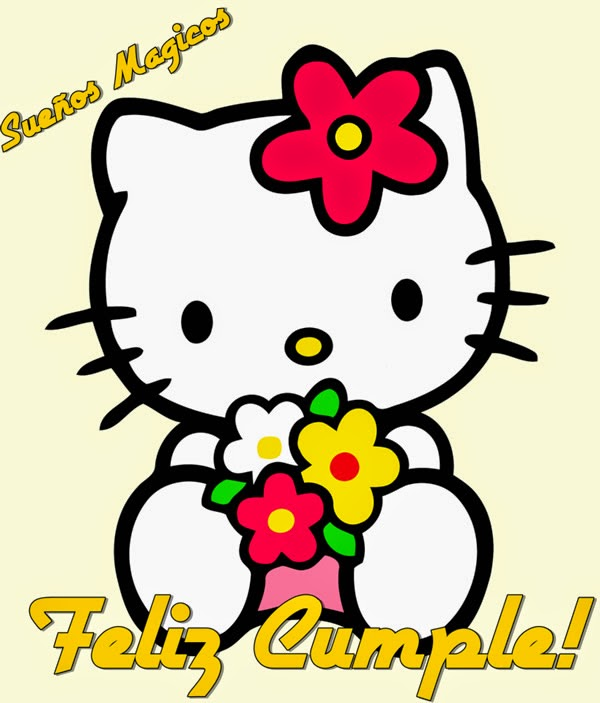 Postal de cumpleanos de Hello Kitty