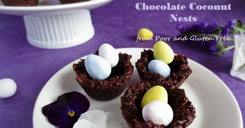 Easy, Gluten Free and Vegan Chocolate Coconut Nests