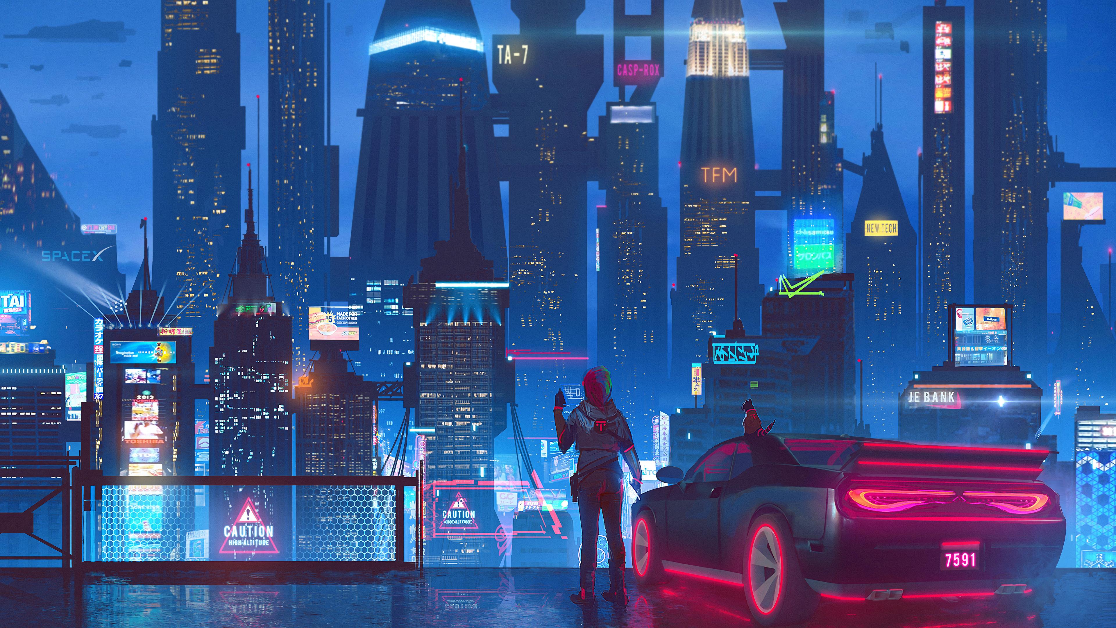 Sci-Fi, Cyberpunk, City, 4K, #108 Wallpaper