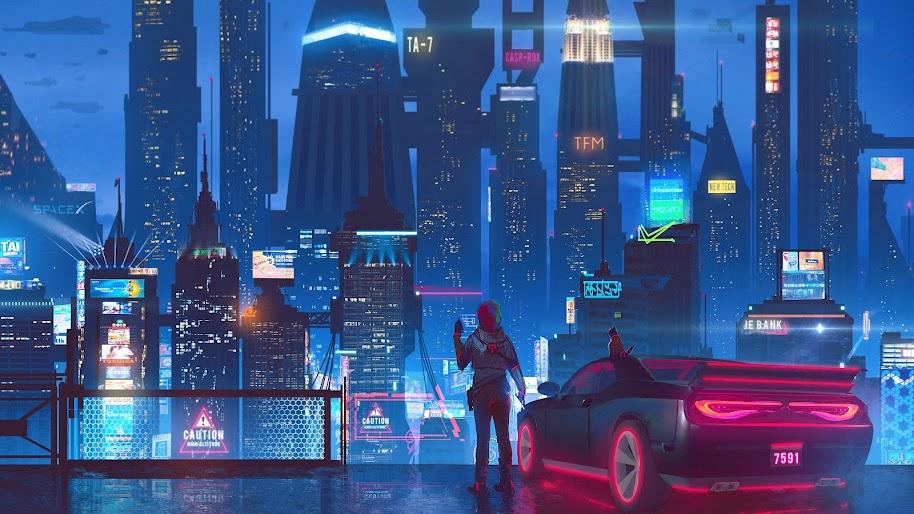 Sci Fi Cyberpunk City 4k 108 Wallpaper