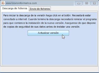 Actualización del software de talleres
