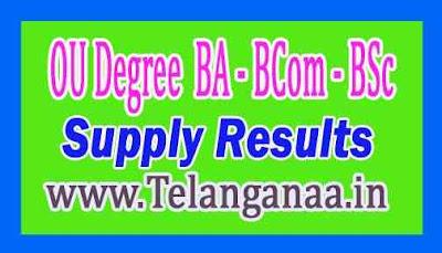 OU Degree (BA / BCom / BSc) I II III Year Supply Results