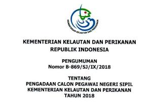 Penerimaan CPNS Terbaru CPNS Kementerian Kelautan dan Perikanan Tahun 2018 [465 Formasi]