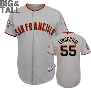 Big and Tall Tim Lincecum Giants Jersey