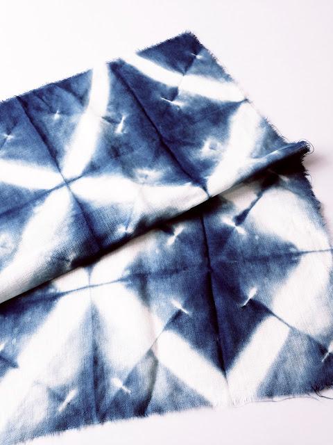 Itajime & Nui shibori on wool © Laura Luchtman