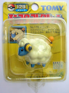 Mareep Pokemon figure Tomy Monster Collection yellow package series