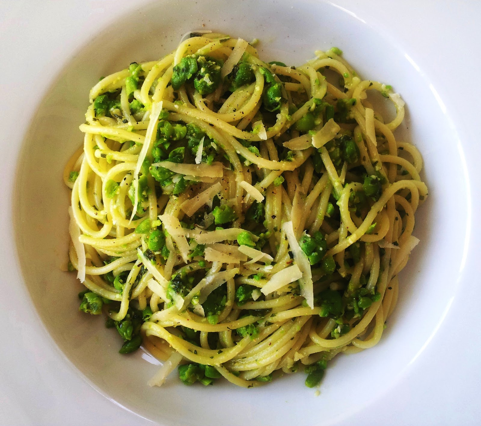 A Food Lover In London: Spaghetti With Pea Pesto Recipe