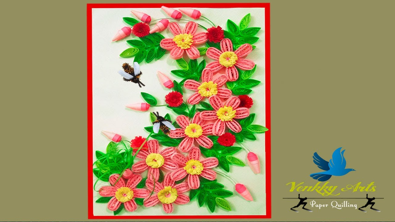 Quilling Greeting Cards For Birthday Paper Quilling Art Paper