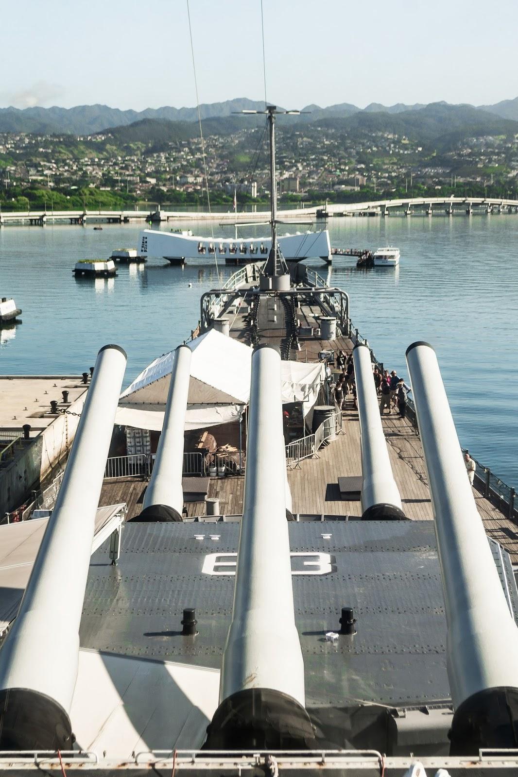Battleship Missouri in Pearl Harbour, Hawaii