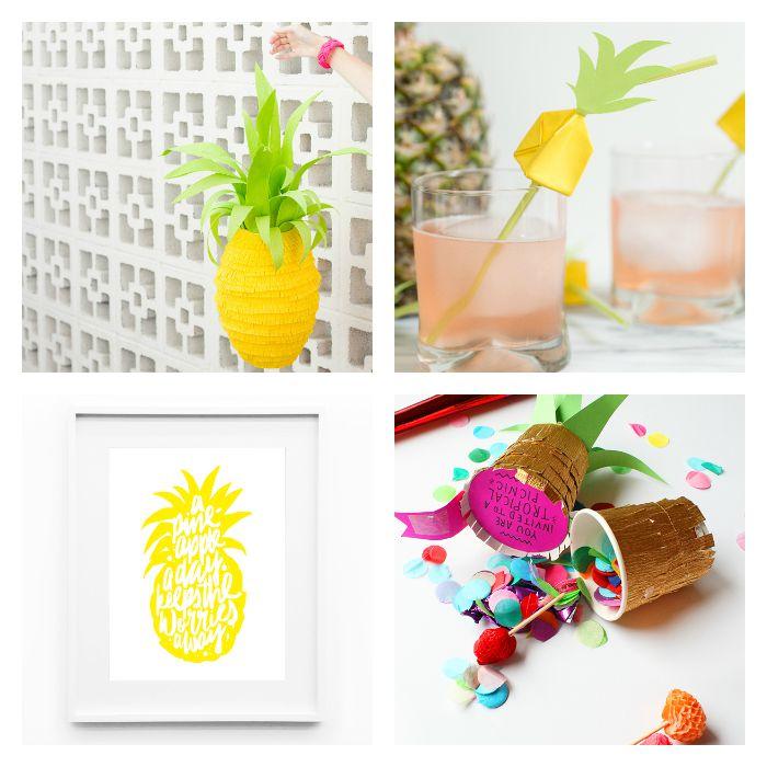 diy y manualidades para fiestas inspiradas en la Piña- 8-diy-pineapple