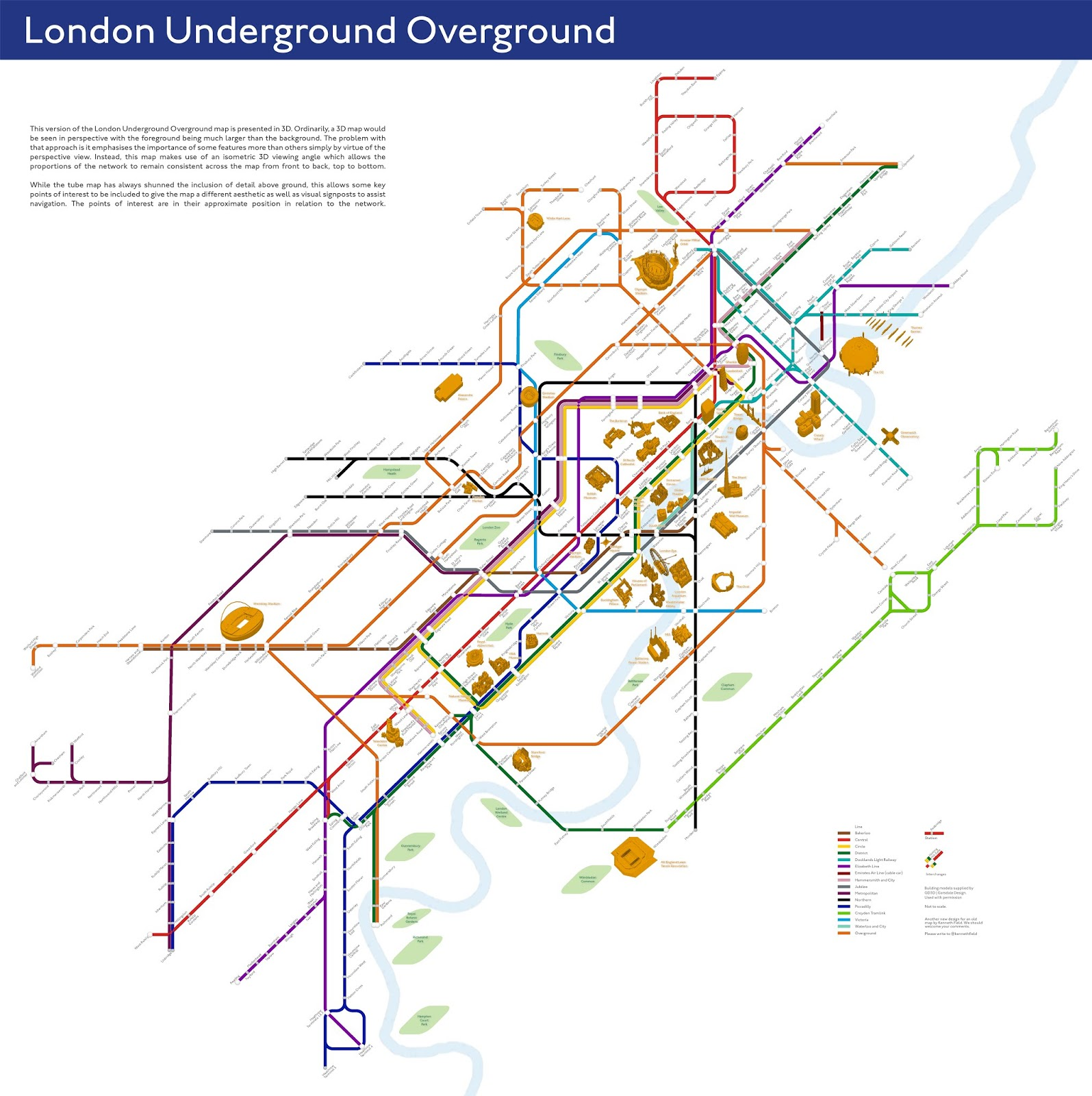 London Points Of Interest Map.Cartonerd Another New Design For An Old Map