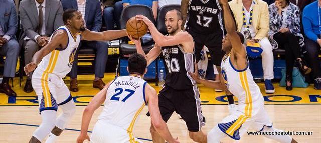 Poco de Ginóbili en la victoria de los Spurs