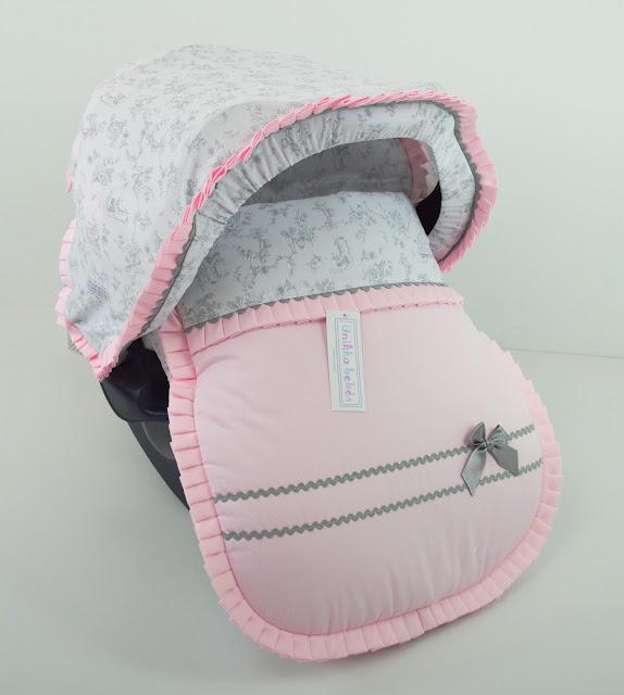 capota maxicosi rosa gris