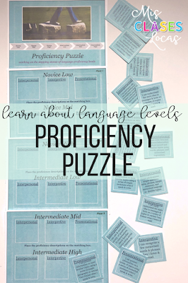 Proficiency Puzzle for World Language Classes