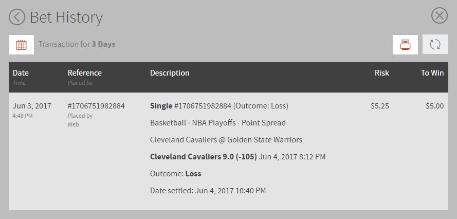 NBA Point Spread Predictions: NBA Point Spread Predictions June 4th, 2017 Result