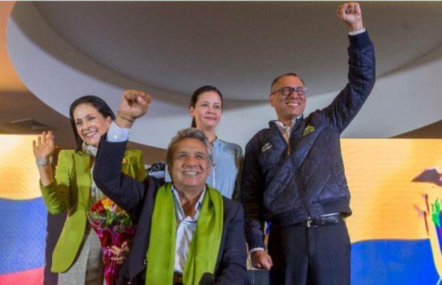 Ecuador: Lenín Moreno se proclamó ganador de las elecciones y los seguidores de Alianza País festejan el triunfo sobre la derecha