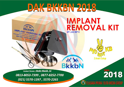 PRODUKSI IMPLANT REMOVAL KIT  2018 ,IMPLANT REMOVAL KIT  ,IMPLANT REMOVAL KIT DAK BKKBN 2018,Jual Implant Removal Kit BKKBN 2018