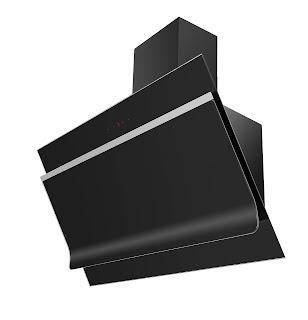 شفاط بوتاجاز كلوجمان مسطح بلت ان للمطبخ أسود ديكورى بالمدخنة 90 سم بشاشة ديجيتال OPTIMUS