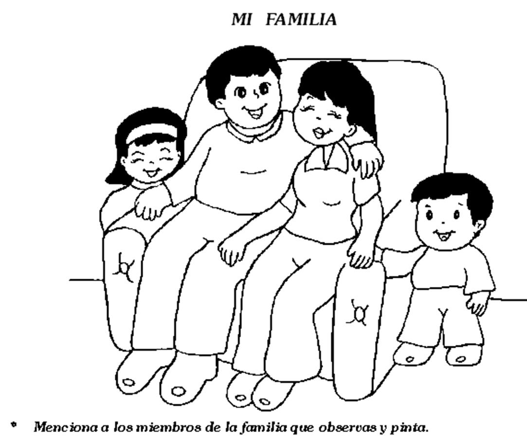 Cuentosdedoncococom Dibujo De La Familia Para Colorear
