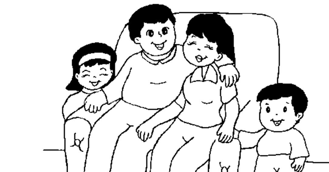 14629863 Gran Familia Feliz En El Estilo De Dibujos El Diario