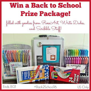 Enter the Win a Back to School Prize Package Giveaway. Ends 8/21
