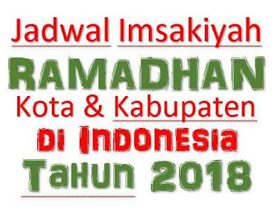 jadwal imsakiyah tahun 2018 file excel