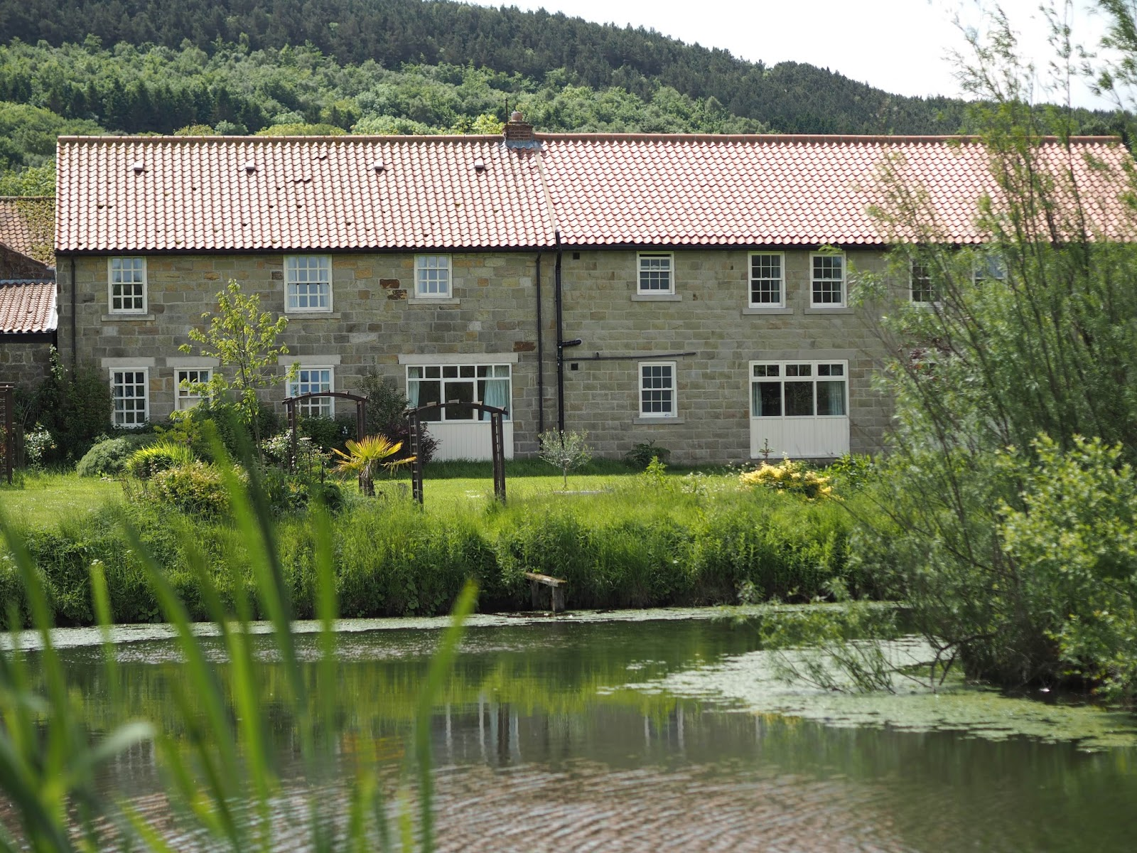 Lake and view of Ox Pasture Hall Country Hotel, Scarborough, Yorkshire, romantic hotel near beach in Scarborough