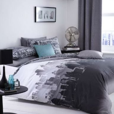 Total fab new york city skyline bedding nyc themed for New york bedroom designs