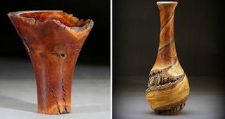 Ξυλουργός μετατρέπει κούτσουρα σε πανέμορφα ξύλινα βάζα