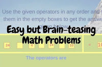 Easy but Brain-teasing Math Problems for Kids with answers