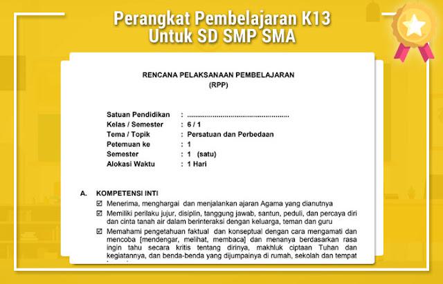 Perangkat Pembelajaran K13 Untuk SD SMP SMA