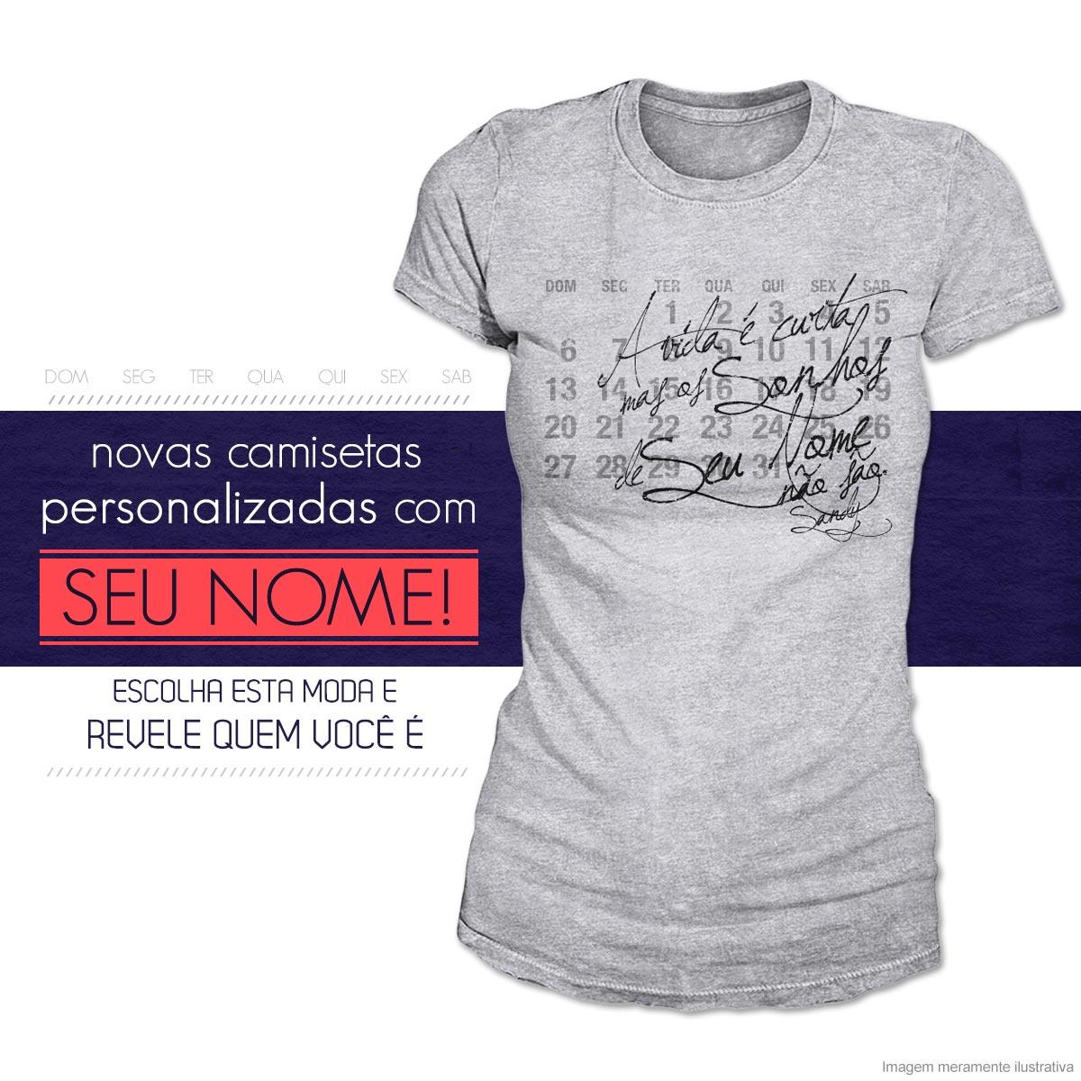 d0522f54c5 Sandy - Oficial Porto Alegre  COMPRE Camisetas Personalizadas com o ...