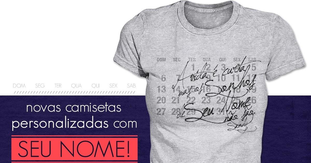5cecda6761 Sandy - Oficial Porto Alegre  COMPRE Camisetas Personalizadas com o seu  nome - Loja Sandy Store