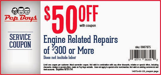 Pep Boys Tire Coupons