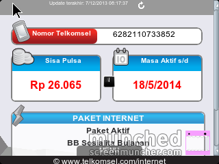menu My Telkomsel