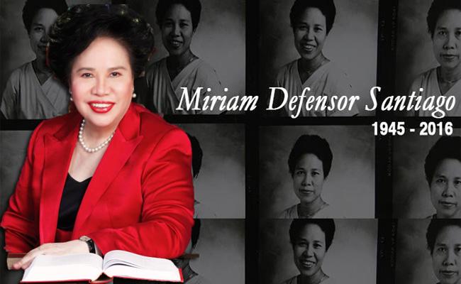 Former Senator Miriam Santiago dies at age 71