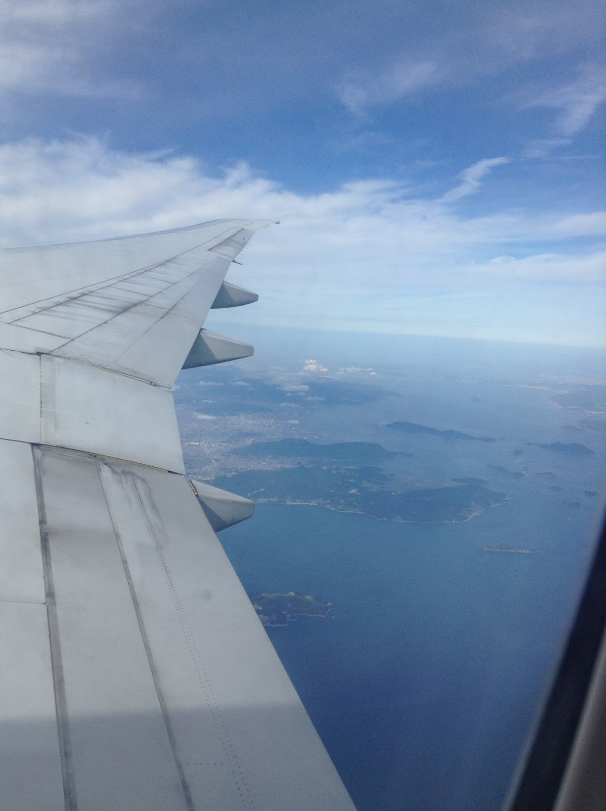 plane window view of Japan