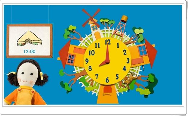 El ratón y el gato con las horas y horas y media Lectura del reloj Matemáticas de Primaria