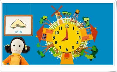 El ratón y el gato con las horas y horas y media Lectura del reloj Matemáticas de 1º de Primaria