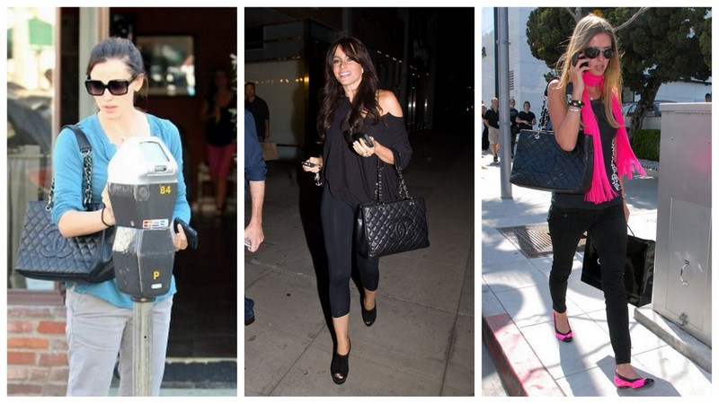 4cf1a4b2b835 Look how Jeniffer Garner , Sofia Vergara and Nicky Hilton work the Chanel  GST tote in style .