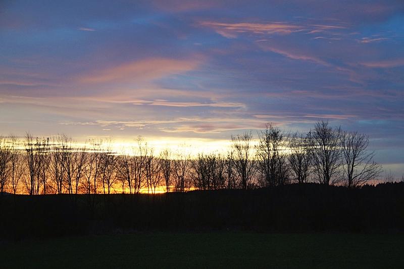 Winter Evening Sun Sky
