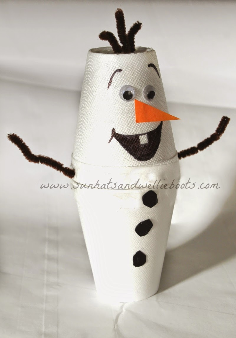 Sun Hats Amp Wellie Boots Diy Olaf Night Light