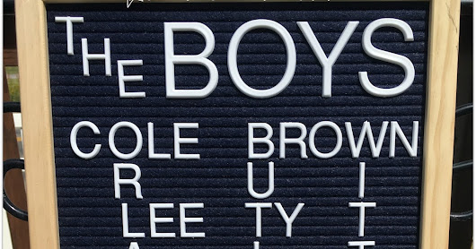 Cowboys Letterboard