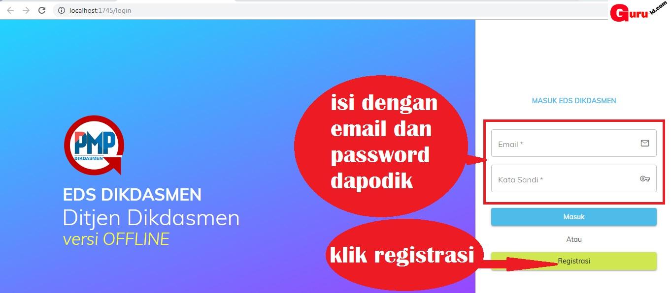gambar cara registrasi aplikasi pmp offline 2019