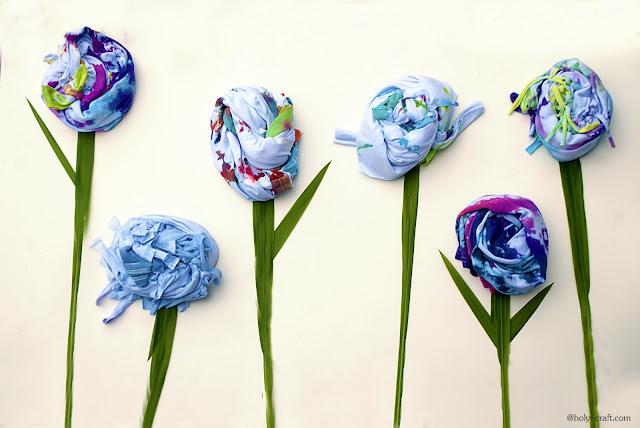 tie dye t-shirts in a flower