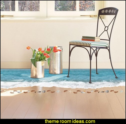 Sea Wave Beach Floor/Wall Sticker