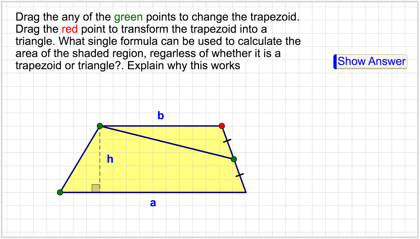Triangle Area Engaging Math: Dynamic Web Sketches